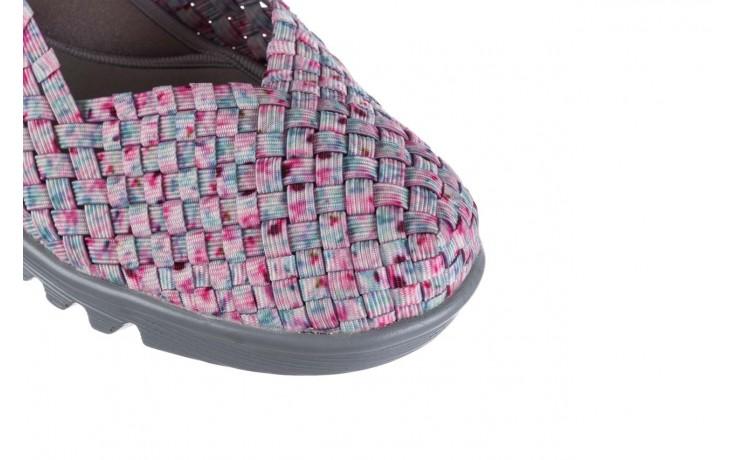 Sandały rock shelia pink blue smoke, róż, materiał  - kobieta 5