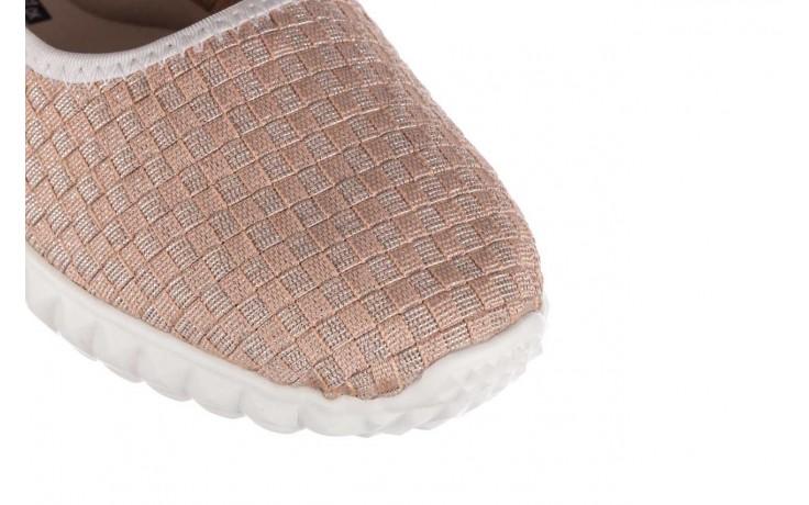 Baleriny rock sanya pink gold ice white binding, róż, materiał - kobieta 5