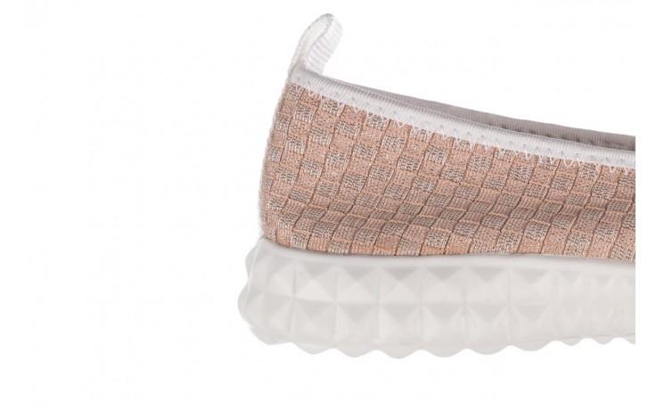 Baleriny rock sanya pink gold ice white binding, róż, materiał - kobieta 6