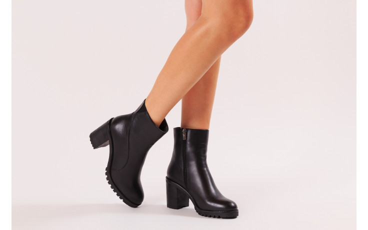 Botki bayla-196 969606 siy soft 196031, czarny, skóra naturalna  - skórzane - botki - buty damskie - kobieta 2