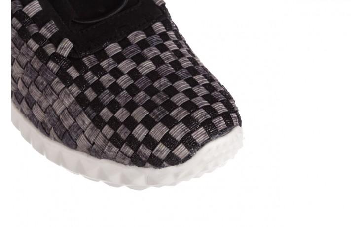 Półbuty rock noam violet beige smoke met blk, czarny/ szary, materiał  - sznurowane - półbuty - buty damskie - kobieta 5