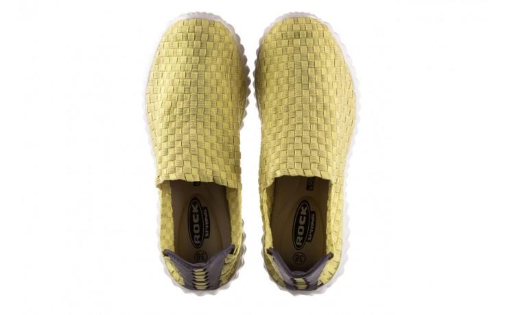 Półbuty rock nina yellow, żółty, materiał  - kobieta 4
