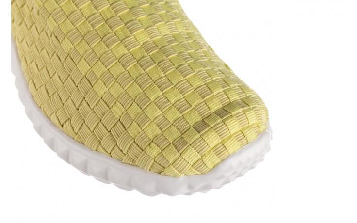 Półbuty rock nina yellow, żółty, materiał  - kobieta 5