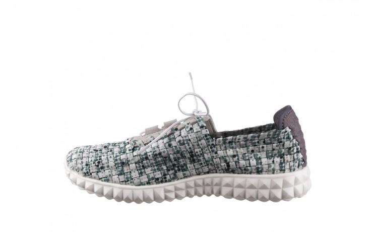 Półbuty rock noam white green points smoke, zielony/ biały, materiał  - sznurowane - półbuty - buty damskie - kobieta 2