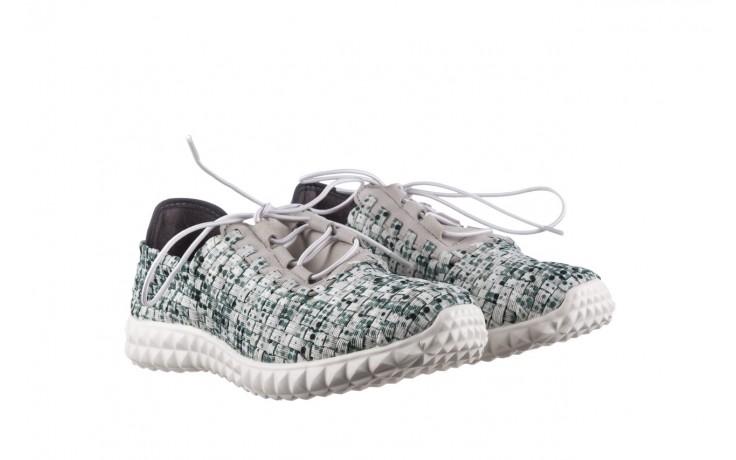 Półbuty rock noam white green points smoke, zielony/ biały, materiał  - sznurowane - półbuty - buty damskie - kobieta 1
