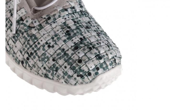 Półbuty rock noam white green points smoke, zielony/ biały, materiał  - sznurowane - półbuty - buty damskie - kobieta 5