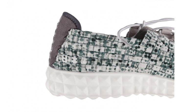 Półbuty rock noam white green points smoke, zielony/ biały, materiał  - sznurowane - półbuty - buty damskie - kobieta 6
