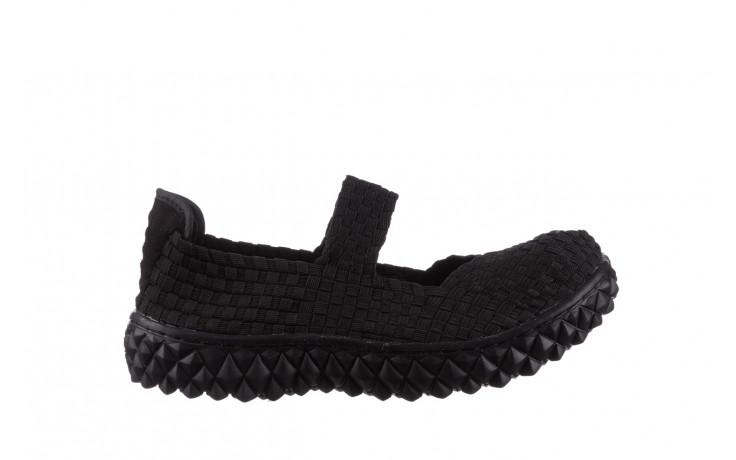 Półbuty rock over black 21 032854, czarny, materiał - wsuwane - półbuty - buty damskie - kobieta