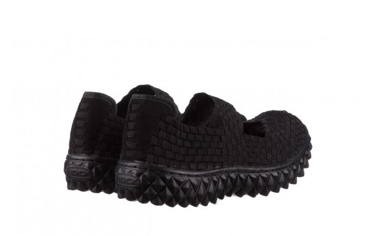 Półbuty rock over black 21 032854, czarny, materiał - wsuwane - półbuty - buty damskie - kobieta 3