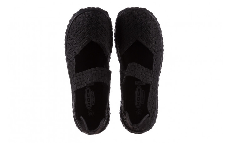 Półbuty rock over black 21 032854, czarny, materiał - wsuwane - półbuty - buty damskie - kobieta 4
