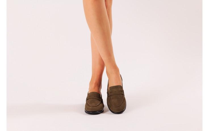 Półbuty bayla-196 168201 d87 196013, zielony, skóra naturalna  - zamszowe - półbuty - buty damskie - kobieta 2