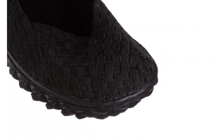 Półbuty rock over black 21 032854, czarny, materiał - wsuwane - półbuty - buty damskie - kobieta 5