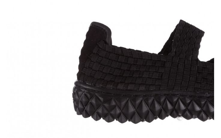 Półbuty rock over black 21 032854, czarny, materiał - wsuwane - półbuty - buty damskie - kobieta 6