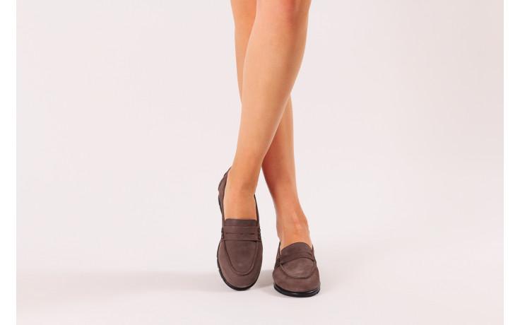Półbuty bayla-196 168201 d86 196012, szary, skóra naturalna  - zamszowe - półbuty - buty damskie - kobieta 2