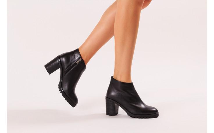 Botki bayla-196 969601 siy soft 196030, czarny, skóra naturalna  - botki - buty damskie - kobieta 2