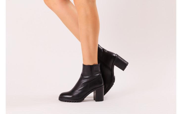 Botki bayla-196 969608 siy soft 196033, czarny, skóra naturalna  - skórzane - botki - buty damskie - kobieta 2