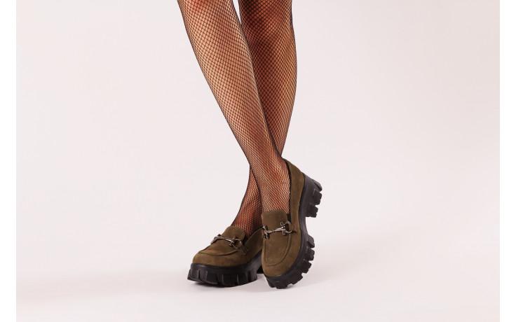 Półbuty bayla-196 20ef126-06 d87 196022, zielony, skóra naturalna  - półbuty - buty damskie - kobieta 2