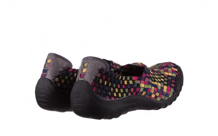 Półbuty rock inoko 20 yellow purple fuchsia smoke blk, wielokolorowy, materiał  - półbuty - buty damskie - kobieta 3