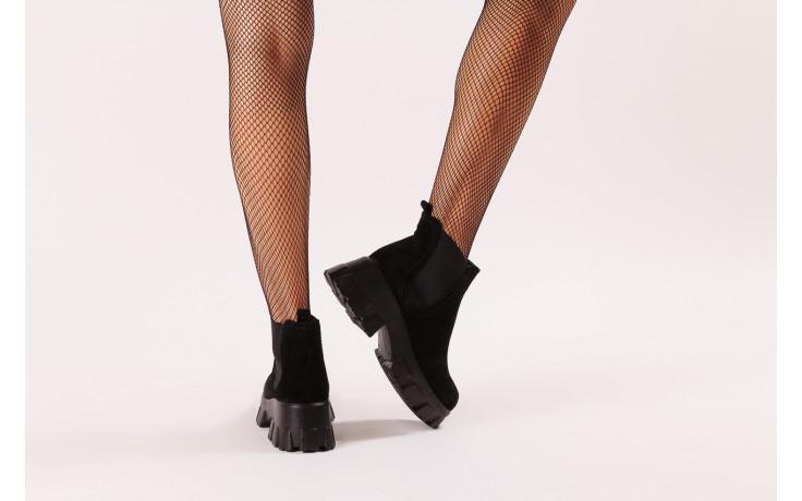 Botki bayla-196 20ef126-01 y16 196016, czarny, skóra naturalna  - buty zimowe - trendy - kobieta 2
