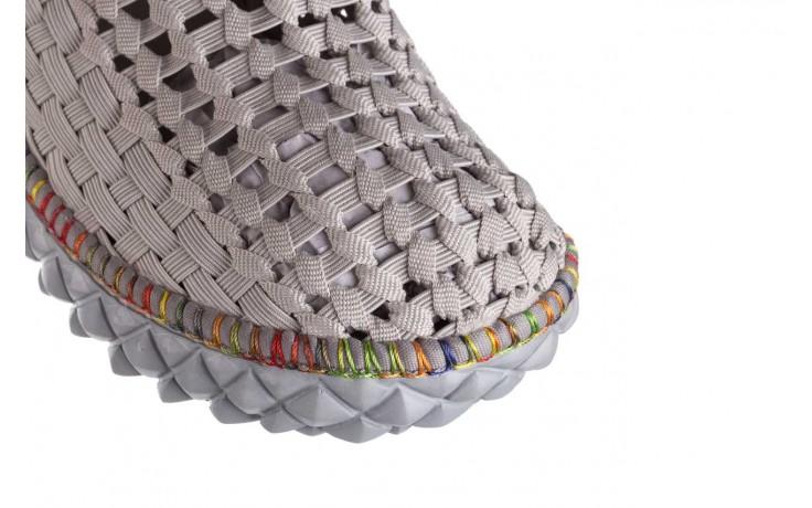 Półbuty rock full breath cord lt grey with tutti frutti binding, szary, materiał  - kobieta 5