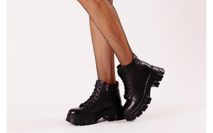 Botki bayla-196 20ef126-03 d44 196020, czarny, skóra naturalna  - skórzane - botki - buty damskie - kobieta 2