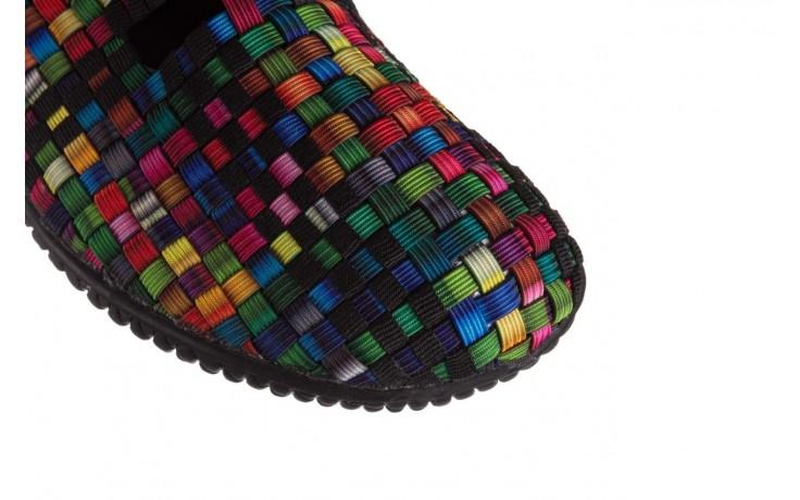 Półbuty rock free step 20 tutti frutti black, czarny, materiał  - wsuwane - półbuty - buty damskie - kobieta 5