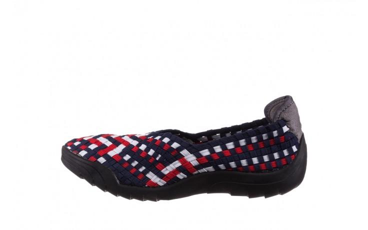 Półbuty rock inoko navy white red navy, granat, materiał  - półbuty - buty damskie - kobieta 2