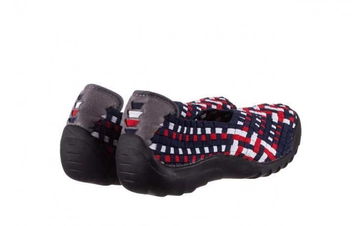 Półbuty rock inoko navy white red navy, granat, materiał  - półbuty - buty damskie - kobieta 3