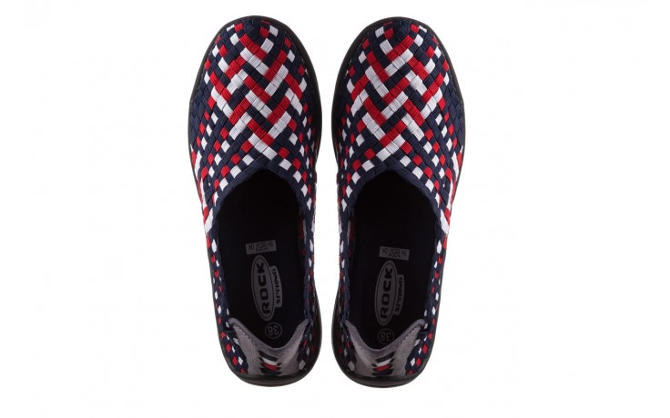 Półbuty rock inoko navy white red navy, granat, materiał  - półbuty - buty damskie - kobieta 4