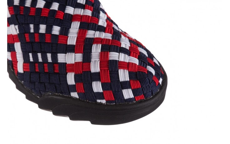 Półbuty rock inoko navy white red navy, granat, materiał  - półbuty - buty damskie - kobieta 5