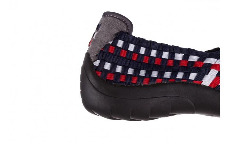Półbuty rock inoko navy white red navy, granat, materiał  - półbuty - buty damskie - kobieta 6