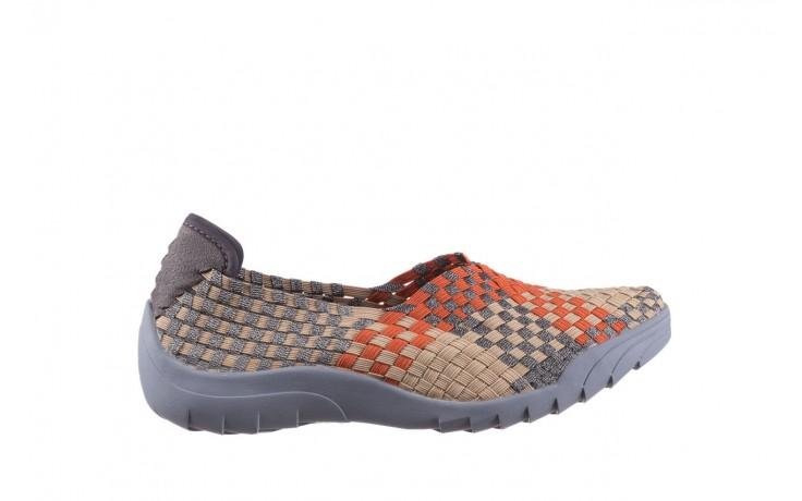 Półbuty rock inoko orange apricot pewter, beż, materiał  - półbuty - buty damskie - kobieta