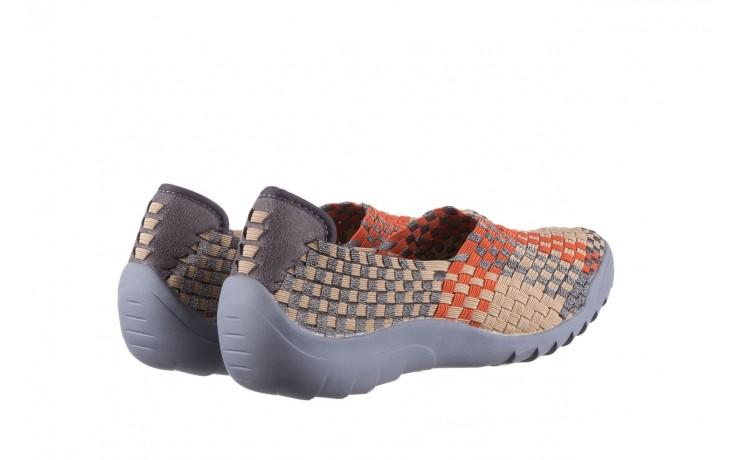 Półbuty rock inoko orange apricot pewter, beż, materiał  - półbuty - buty damskie - kobieta 3