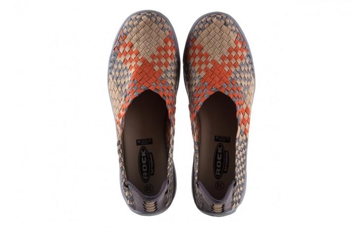 Półbuty rock inoko orange apricot pewter, beż, materiał  - półbuty - buty damskie - kobieta 4