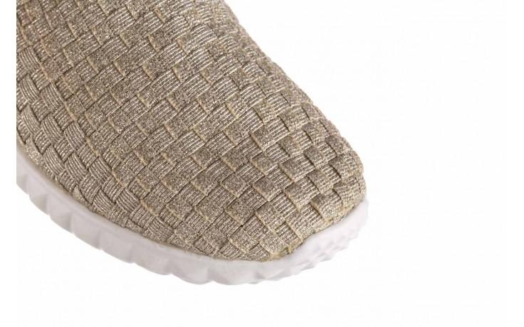 Półbuty rock nina lt gold, złoty, materiał  - półbuty - buty damskie - kobieta 5