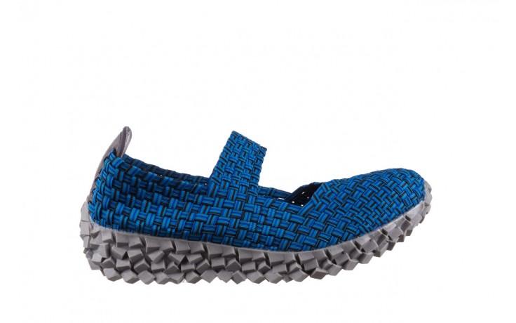 Półbuty rock koala aqua blk lines smoke, niebieski, materiał - wsuwane - półbuty - buty damskie - kobieta