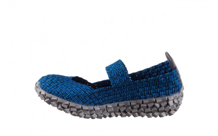 Półbuty rock koala aqua blk lines smoke, niebieski, materiał - wsuwane - półbuty - buty damskie - kobieta 2