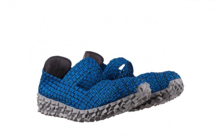 Półbuty rock koala aqua blk lines smoke, niebieski, materiał - wsuwane - półbuty - buty damskie - kobieta 1