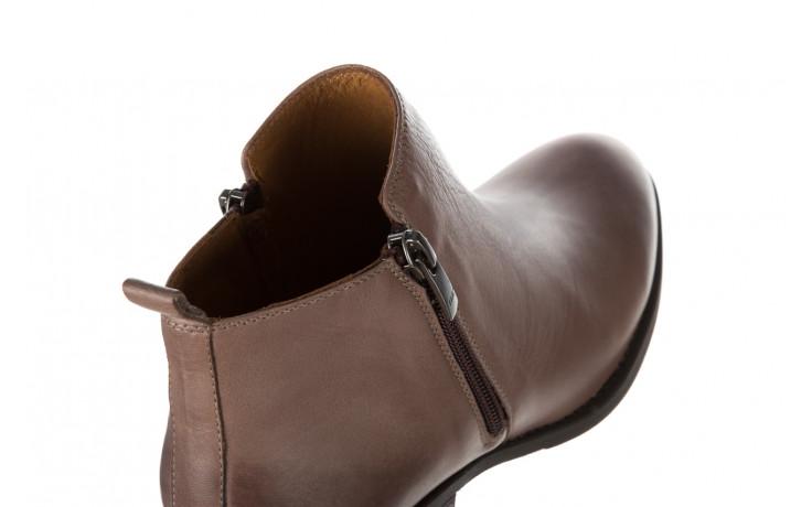 Botki bayla 161 061 2003 14 hat 161179, beż, skóra naturalna  - skórzane - botki - buty damskie - kobieta 6