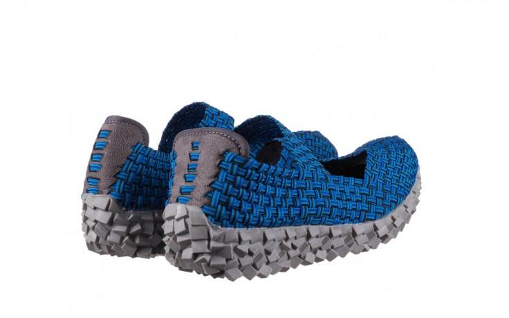 Półbuty rock koala aqua blk lines smoke, niebieski, materiał - wsuwane - półbuty - buty damskie - kobieta 3