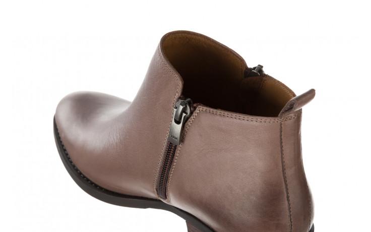 Botki bayla 161 061 2003 14 hat 161179, beż, skóra naturalna  - skórzane - botki - buty damskie - kobieta 7