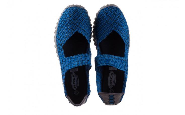 Półbuty rock koala aqua blk lines smoke, niebieski, materiał - wsuwane - półbuty - buty damskie - kobieta 4