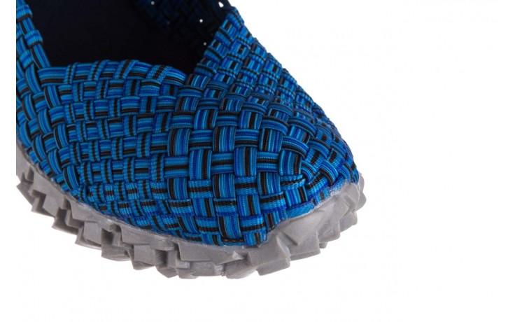 Półbuty rock koala aqua blk lines smoke, niebieski, materiał - wsuwane - półbuty - buty damskie - kobieta 5