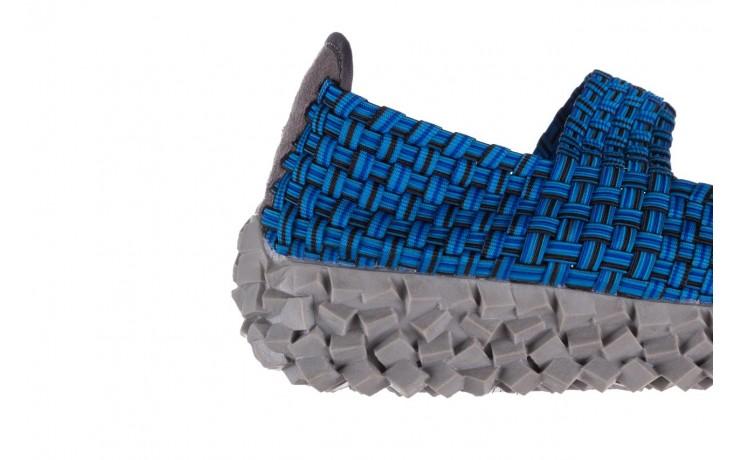 Półbuty rock koala aqua blk lines smoke, niebieski, materiał - wsuwane - półbuty - buty damskie - kobieta 6