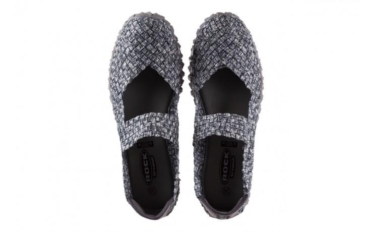 Półbuty rock koala black grey s smoke, biały/ szary, materiał  - kobieta 4