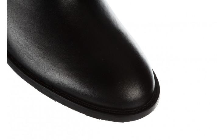 Botki bayla 161 077 48461 black 161184, czarny, skóra naturalna  - skórzane - botki - buty damskie - kobieta 6