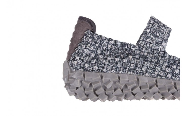 Półbuty rock koala black grey s smoke, biały/ szary, materiał  - kobieta 6