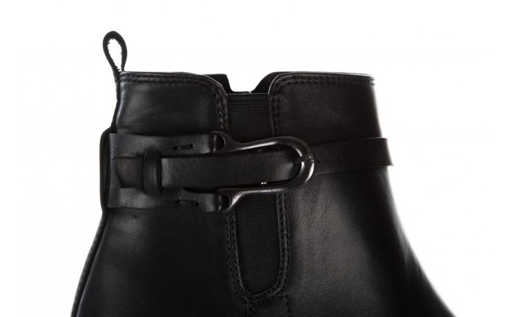 Botki bayla 161 077 48461 black 161184, czarny, skóra naturalna  - skórzane - botki - buty damskie - kobieta 7