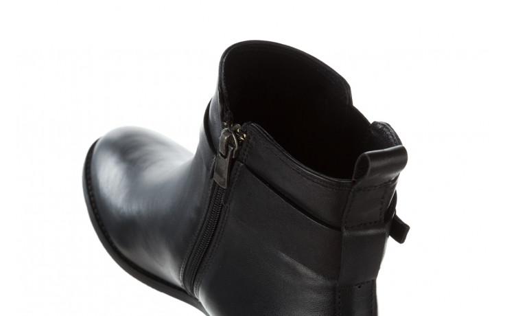Botki bayla 161 077 48461 black 161184, czarny, skóra naturalna  - skórzane - botki - buty damskie - kobieta 8