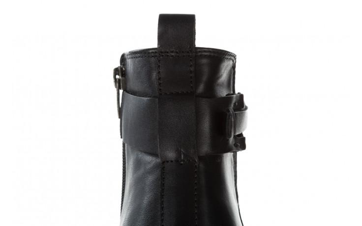 Botki bayla 161 077 48461 black 161184, czarny, skóra naturalna  - skórzane - botki - buty damskie - kobieta 9